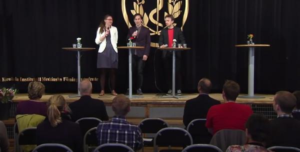 läkarstudenterna alexander åström, viktor emlund, och underläkaren cecilia dagerskog